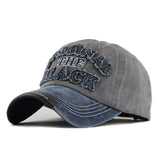 The Original Black Patched Baseball Cap-unisex-wanahavit-Navy Gray-Adjustable-wanahavit