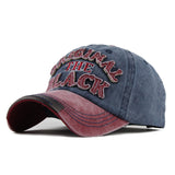 The Original Black Patched Baseball Cap-unisex-wanahavit-Red Navy-Adjustable-wanahavit