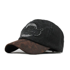 Outdoor Sport Rock Shark Embroidered Snapback Baseball Cap-unisex-wanahavit-F604 Black-Adjustable-wanahavit