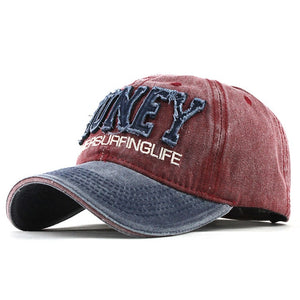 Honey Springlife Embroidered Patched Snapback Baseball Cap-unisex-wanahavit-F319 Navy Red-wanahavit
