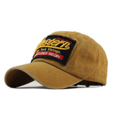 Western Patched Baseball Cap-unisex-wanahavit-Yellow-Adjustable-wanahavit