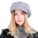 Fashion Artist Wool Beret-women-wanahavit-Light gray-wanahavit