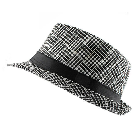 Grid Striped Sun Hat