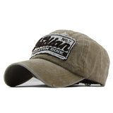 Indian Skeleton Dink Patched Baseball Cap-unisex-wanahavit-Khaki-Adjustable-wanahavit