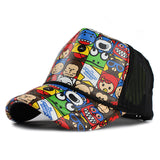 Doodle Print Baseball Cap-unisex-wanahavit-Small cell-Adjustable-wanahavit