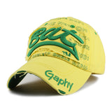 BAT Embroid Baseball Cap-unisex-wanahavit-BAT Green-wanahavit