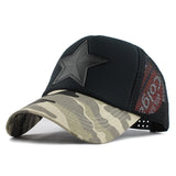 Star Patched Baseball Cap-unisex-wanahavit-Camouflage Light-Adjustable-wanahavit
