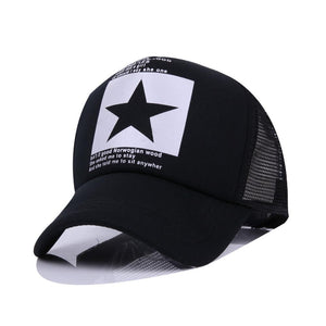Star Brand Baseball Cap-unisex-wanahavit-Black & WHite-wanahavit