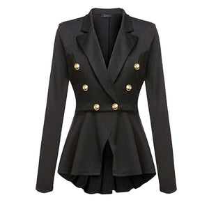 Gothic Casual Slim Fit Coat Blazer-women-wanahavit-Black-L-wanahavit