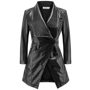Gothic Biker Faux Leather Coat-women-wanahavit-black-L-wanahavit