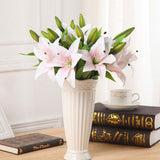 11pcs Realistic Artificial Lily
