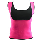 Plus Size Neoprene Sweat Sauna Hot Body Shaper-women fitness-wanahavit-Rose Red-S-wanahavit