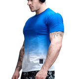 Cotton Gradient Print Crossfit Tees