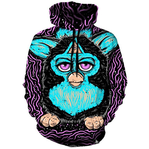 Furbex Hoodie Sweatshirts Cute Animal 3D Print Hoodies