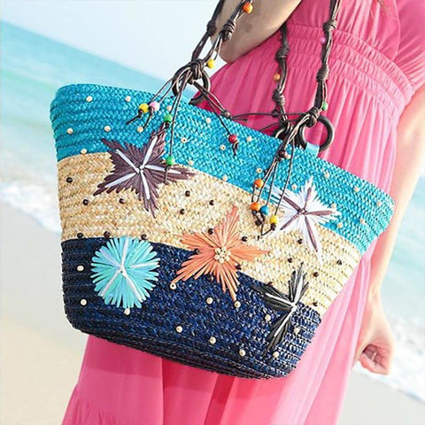 Hawaii Starfish Pattern Shoulder Beach Bag