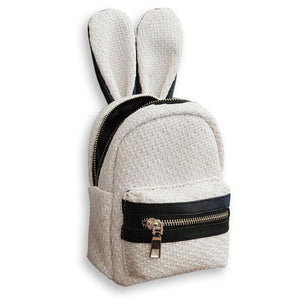 Summer Cute Rabbit Ears Straw Backpack-women-wanahavit-White-wanahavit