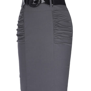 Sexy Pencil Office High Waist Skirt With Belt-women-wanahavit-Black-L-wanahavit