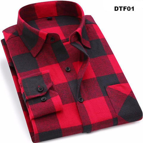 Flannel Plaid Casual Long Sleeve Shirt