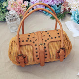 Japanese Journal of the Hands Rattan Tote Bag-women-wanahavit-brown-wanahavit