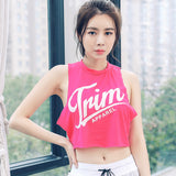 Trim Printed Loose Sleeveless Shirt-women fashion & fitness-wanahavit-Pink-L-wanahavit