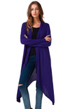 Asymmetrical Casual Long Cardigan-women-wanahavit-Blue-L-wanahavit