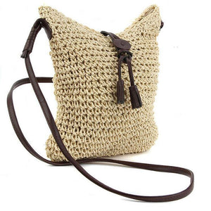 Tassel Bohemian Straw Shoulder Bag-women-wanahavit-Beige-wanahavit