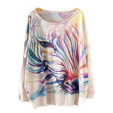 Watercolor Zebra Printed Knitted Long Sleeve-women-wanahavit-One Size-wanahavit