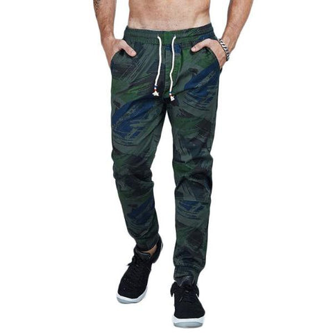 Camouflage Cotton Twill Tapered Jogger Pants-men fashion & fitness-wanahavit-DarkGreen-28-wanahavit