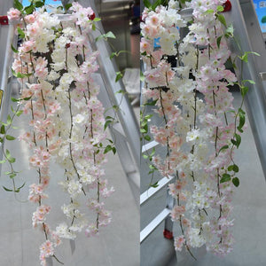 1.8m Artificial Cherry Blossom Vine-home accent-wanahavit-Light pink A-wanahavit
