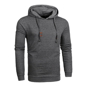 Solid Drawstring Hooded Sweatshirt-men fashion & fitness-wanahavit-Dark Gray-XXL-wanahavit