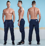 Designer Pocket Cotton Jogger Pants-men fashion & fitness-wanahavit-DarkBlue-28-wanahavit