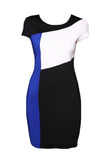 Three Color Slice Accent Summer Slim Fit Dress-women-wanahavit-Blue-S-wanahavit