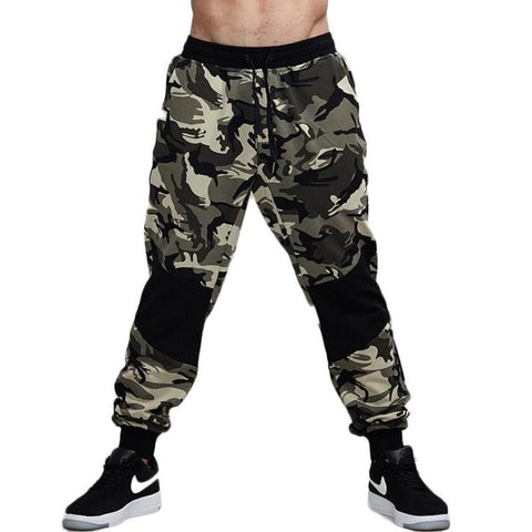 Camouflage Knee Patched Jogger Pants-men fashion & fitness-wanahavit-Camouflage-S-wanahavit