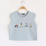 Cartoon Print Harajuku Style Sleeveless-women-wanahavit-Blue-One Size-wanahavit