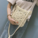 Bohemian Hollow Out Crochet Straw Shoulder Bag