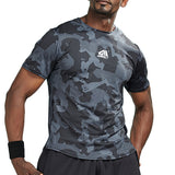 Camouflage Geometric Print Compression Shirts