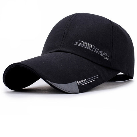 Sports Style Printed Baseball Cap-unisex-wanahavit-Black-wanahavit
