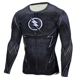 Marvel & DC Superheroes Suit Compression Long Sleeve Shirts-men fitness-wanahavit-TC103-Aisan S-wanahavit
