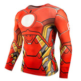 Marvel & DC Superheroes Suit Compression Long Sleeve Shirts-men fitness-wanahavit-TC38-Aisan S-wanahavit