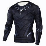 Marvel & DC Superheroes Suit Compression Long Sleeve Shirts-men fitness-wanahavit-TC105-Aisan S-wanahavit