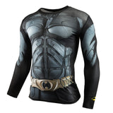 Marvel & DC Superheroes Suit Compression Long Sleeve Shirts-men fitness-wanahavit-TC27-Aisan S-wanahavit