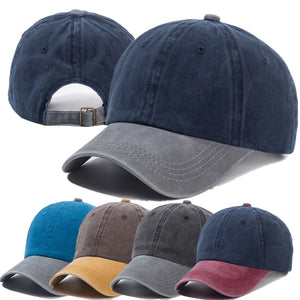 Two Color Stitching Washed Cotton Trucker Baseball Adjustable Snapback Cap