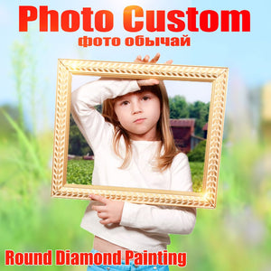 Photo Custom Diamond Embroidery Full Round Crystal Diamond Painting Cross Stitch Diamond Mosaic Kits-home art-wanahavit-40x40cm full round-wanahavit