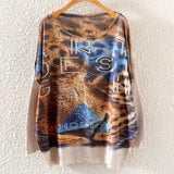 Printed Knitted Winter Long Sleeve Series 1-women-wanahavit-Tiger-One Size-wanahavit