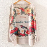 Printed Knitted Winter Long Sleeve Series 1-women-wanahavit-Nostalgic Flowers-One Size-wanahavit