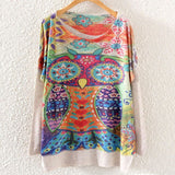 Printed Knitted Winter Long Sleeve Series 1-women-wanahavit-Owl-One Size-wanahavit