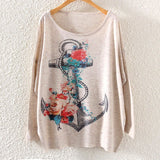 Printed Knitted Winter Long Sleeve Series 1-women-wanahavit-Anchor-One Size-wanahavit