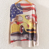 Printed Knitted Winter Long Sleeve Series 1-women-wanahavit-Yellow Car-One Size-wanahavit