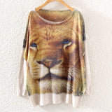 Printed Knitted Winter Long Sleeve Series 1-women-wanahavit-Lion-One Size-wanahavit