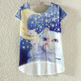 Watercolor Giraffe Printed Tees-women-wanahavit-Cat & Mouse-M-wanahavit